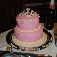 1St Birthday Princess Kate Cake Inspired by this cake ( http://cakecentral.com/gallery/1298031 ). My baby Kate and her brother turned 1, and this was her cake. This is my...