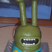 Flushed Away Slug Cake My third fondant cake, and what a challenge it was! Had not dealt with height before, and learned about support. Large pieces of fondant...