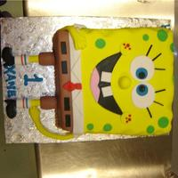 Sponge Bob Square Pants   All details are fondant.