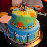 Baby Shower Cake My sister-in-law was throwing a baby shower and wanted to try her hand at cake decorating. She designed this one and I helped her execute...