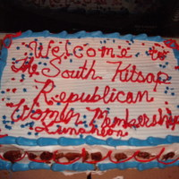 Gop Sheet Cake   SIdes feature parlines. South Kitsap Republican Womens Club