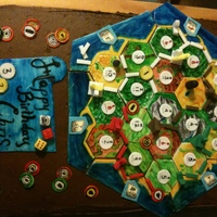 "Settlers Of Catan This is a cake for a friend of mine. He loves the Board Game Settlers of Catan. All the pieces are movable so you can ""play"" the..."