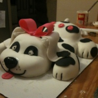 Spotted Puppy This is for a friend of mine for his daughter's 5th birthday! It is made with red velvet cake and homemade buttercream icing. Bow,...
