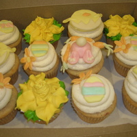 Easter Cupcakes vanilla cupcakes decorated for easter