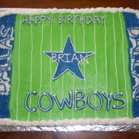 Cowboys Fan This was a cake I did for a friends birthday. He is a HUGE cowboys fan.
