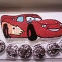 Cars Cake Made for a co-workers son. He loved it and didnt want anyone to eat it!