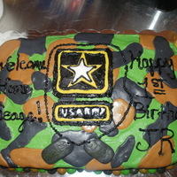 Army Camo Camo cake, buttercream and MMF. It was kind of tricky but I really like how it turned out. Thanks everyone on CC for all the wonderful...