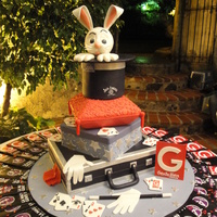 Magic Cake This was a cake for the 4th anniversary of a Magazine,They said, the cake design must be inspired in Magic and Magicians.