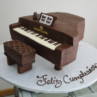 Piano Cake this cake was decorated with chocolate buttercream