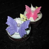 Butterflies made with fondant