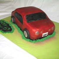 Car Cake Airbrushed fondant