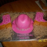 Cowgirl Tiara Birthday Cake The hat was done with an 8 in. and wondermold pan that I carved and covered with fondant. Cassidy's mom found the pattern for the...