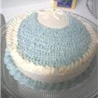Baby Bib Cake   just a practice cake for a baby shower:)
