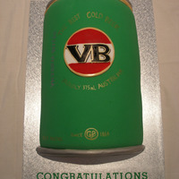 Vb Can Groom's Cake This VB can cake was made specially for the Groom (as well as the traditional style cake)It was filled with caramel mud cake so that when...