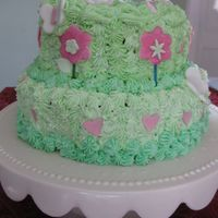 Sring Cake spring cake.. buttercream, fondant butterflies and flowers