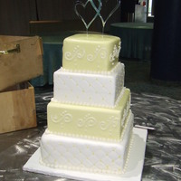 Light Yellow Fondant Wedding Cake