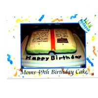 Book Cake This is a cake I made for my mom's 49th b-day and she loves to read and I thought that this would be perferct for her. Its a 9x13...