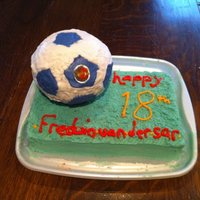 Football Cake #2 ok this is the best football cake i have made atm. next years will be better yet tho. hahaha.