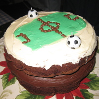 Football Cake #1 This is just a cake I through together ages ago for my brother's birthday.