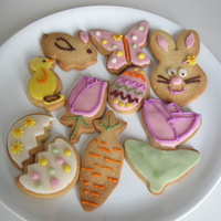 Easter Cookies Hi, I am 11 years old and I like baking a lot. I made easter cookies.