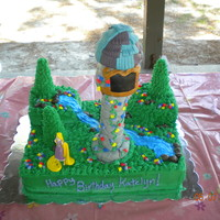 Rapunzel's Tower My friend and I made this cake for our other friend's daughter's 6th bday. The cake is yellow with a strawberry filling and...