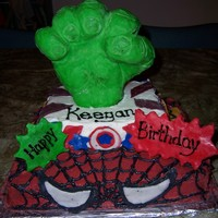 Superhero Squad! A 3rd Birthday Cake for very energetic 3 year old who loves Superheroes!