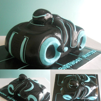 Tron Legacy Cake This was my first carved cake.
