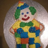 My First Cake Ever! I made this buttercream clown cake for my son Aidan's 1st birthday.Having never taken a class or decorated a cake in my life I was...