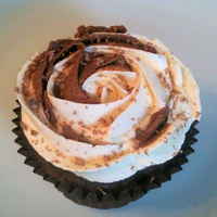 Chocoholics Delight! Chocolate sponge topped with chocolate and vanilla buttercream