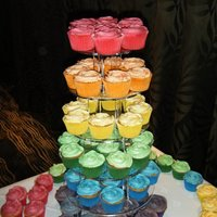 Rainbow Cupcake Tower For a 40th birthday party