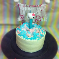 Hello Kitty Farewell Cake