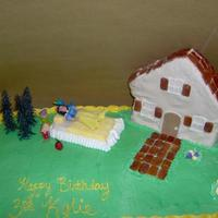 Snow White   Cottage done with rice krispies
