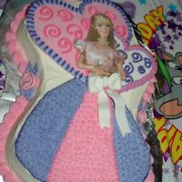 Barbie Cake Cake I made for my friend's daughter Birthday.