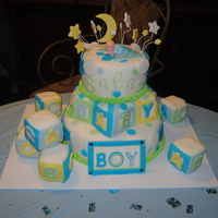 Abc Blocks Baby Shower Cake