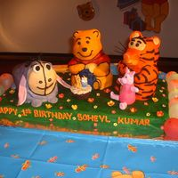 Picture1_320.jpg The base was a fruit cake and the characters were all cake, expect for Piglet who was made solely from fondant. Tigger's nose was...