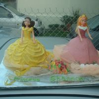 Princess Aurora & Belle butter icing covered butter cakes. each was 2kg.