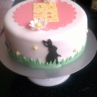 My First Fondant Cake Ever For Easter This is done in all fondant except flowers done with gumpaste. Not too bad for my first fondant cake ever. Made if for the fam