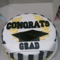 Simple Graduation Cake Made this for a friend graduating nursing school. Used mmf on base and had to use regular fondant on letters, hat and wreath. Any advice...