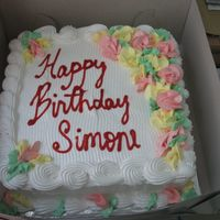 Simone.jpg This is a chocolate and plain cake with boiled frosting done for my friend's birthday.