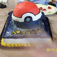 Pokeman Ball My son's 11th birthday cake