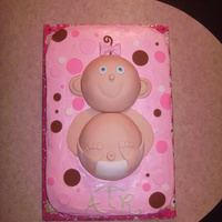 Brown And Pink 3D Baby Cake