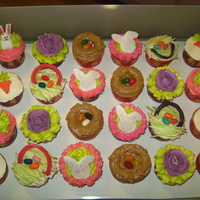 Assorted Easter Cupcakes