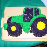 John Deere my sons first birthday cake. john deere.