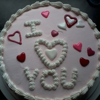 I Love You ice cream cake with homemade color flow candies