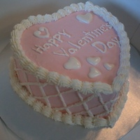 Pink Lattace Work this is an ice cream cake