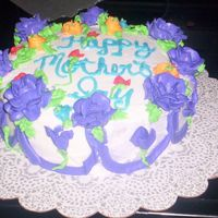 4 My Mom   butter cream 8in cake for my momma