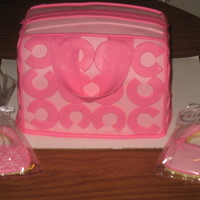 Coach Purse Cake   With coordinating cookie favors