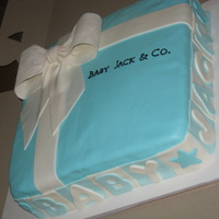 Present Cake   In the style of Tiffany & Co boxes.... this one was for a baby shower