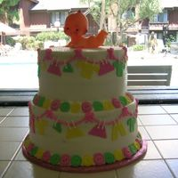 Baby Shower Clothesline Cake Another view. Thanks for looking.