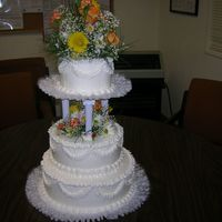 Wedding Cake This was my first time doing a wedding cake. It wasn't for a real wedding, we did this for our final class. I learned a lot. Trail and...